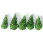 Trees, half inch tall, 5pcs