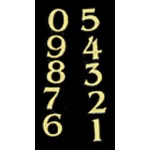Brass house numbers 0-9
