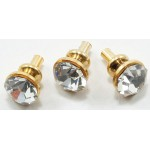 Crystal Door Knob, 6 pcs brass