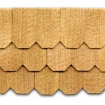 cedar shingles, Hexagon, 1/12 scale 140 pcs