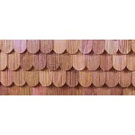 Cedar shingles, fishscale 1/12 scale, 140 pcs