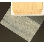 Textured Paper shingles, 1/48