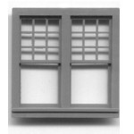 Double window, quarter scale