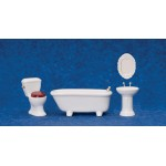 Bathroom Set, 4pc porcelain 1/12""