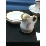 "Gold Rim Pitcher and Bowl, 1/24""** SOLD OUT"